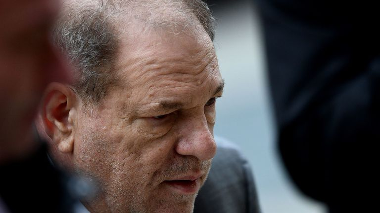 Harvey Weinstein looked frail as he arrived at court during his trial