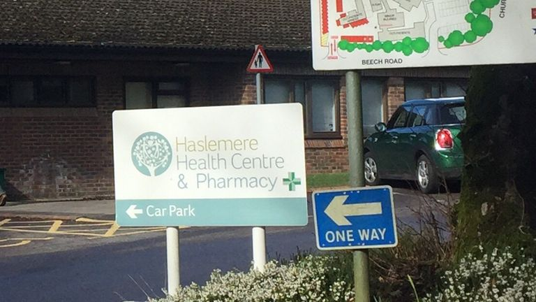 Haslemere Health Centre has re-opened after it was closed for cleaning on Friday