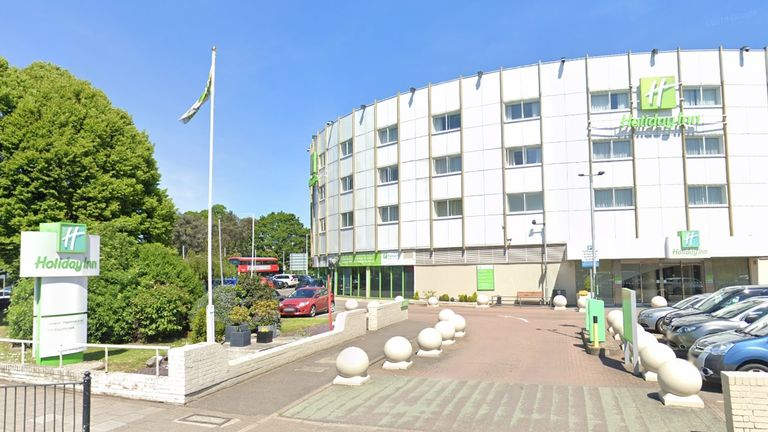 The Holiday Inn on Bath Road has been temporarily closed to other guests. Credit: Google Maps