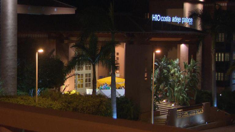 The hotel is under lockdown