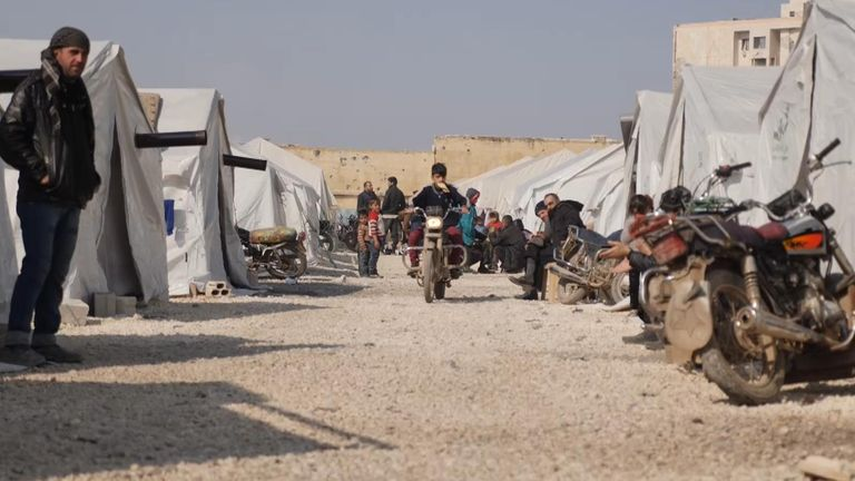 A camp for displaced people in Idlib