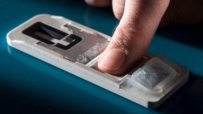 The fingerprint drug test is marketed by Intelligent Fingerprinting