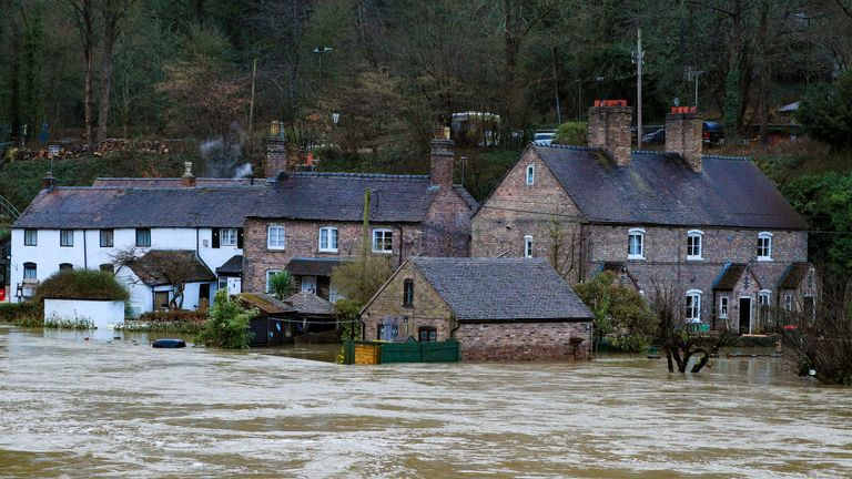 A danger to life warning remains in force in Ironbridge in Shropshire