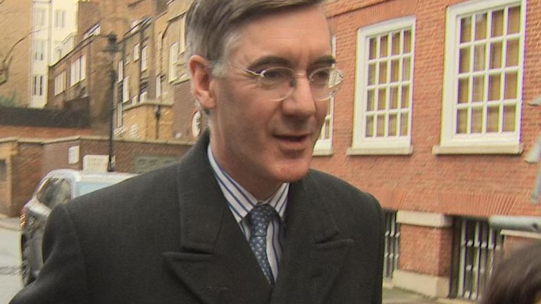 Jacob Rees-Mogg talks about the weather and how nice it is to see the press... but not the reshuffle