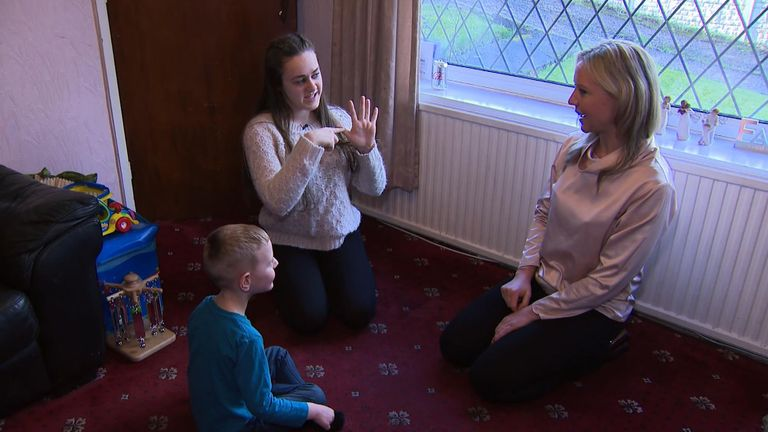 Jade Kilduff launched a campaign for compulsory sign language lessons after seeing how sign language transformed her younger brother's happiness