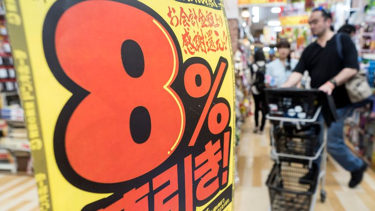 Japan raised its consumption tax rate to 10% from 8% in October