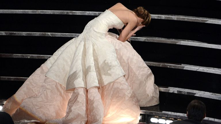Jennifer Lawrence finds a novel way to amp up the Oscars attention