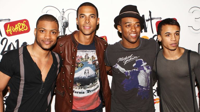 JLS arrive at the Brit Awards 2010 launch held the at The Indigo 02 on January 18, 2010 in London, England