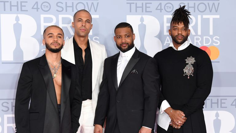 JLS at the Brit Awards 2020