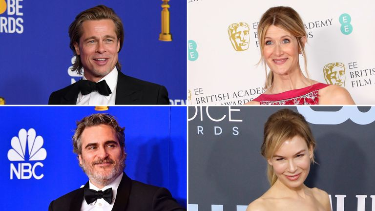 Brad Pitt, Laura Dern, Joaquin Phoenix and Renee Zellweger are widely expected to pick up major acting awards