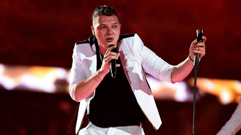 John Newman during the Closing Ceremony for the Baku 2015 European Games