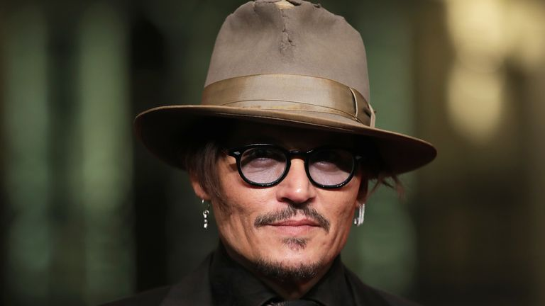 Johnny Depp at the Berlin Film Festival