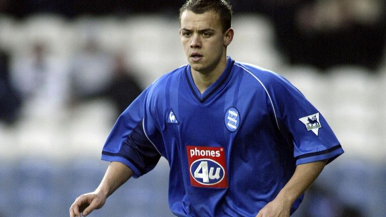 Jonathan Hutchinson played for Birmingham City but is now paralysed after the incident