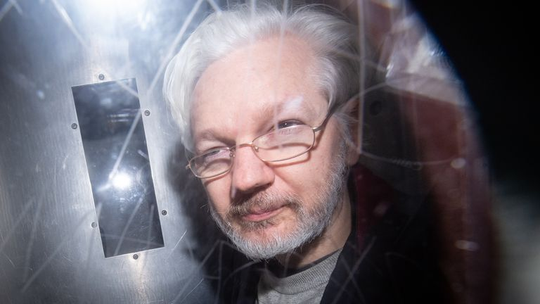 Julian Assange is being held in Belmarsh Prison ahead of his hearing