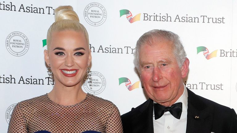 Katy Perry promised to sing to Prince Charles' plants