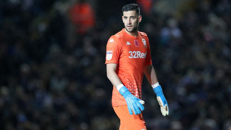 Kiko Casilla of Leeds United during the Sky Bet Championship match between Leeds United and Blackburn Rovers at Elland Road on November 9, 2019