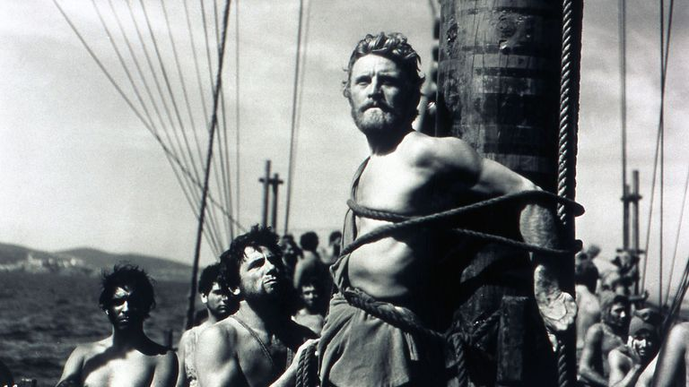 Kirk Douglas in Ulysses, 1954. Pic: Moviestore/Shutterstock