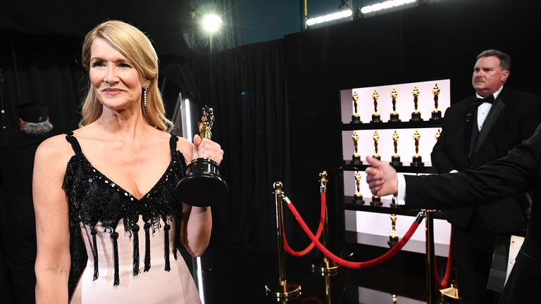 Laura Dern won the Oscar for best supporting actress for her role in Marriage Story