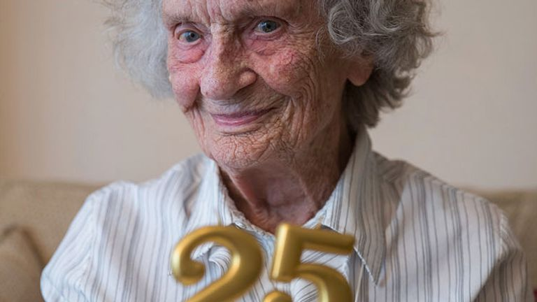 Great-great grandmother Doris Cleife is turning 100 but will be celebrating her 25th leap year birthday