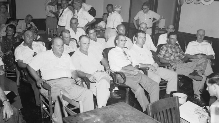 The all-white jury that cleared Bryant and Milam