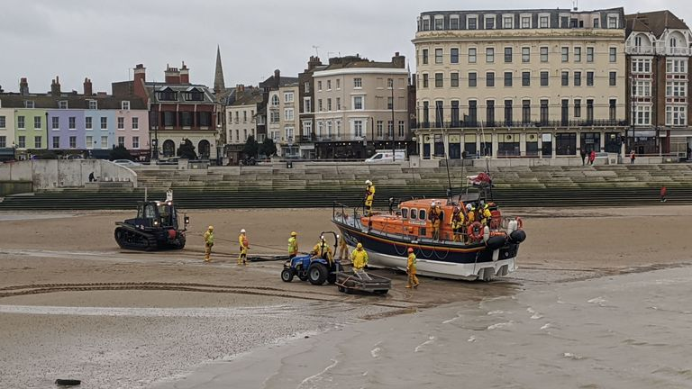 A body has been recovered off the coast of Margate. Pic: Gus Carter