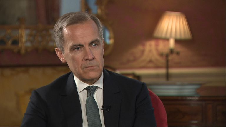Mark Carney spoke exclusively to Sky News' Economics Editor Ed Conway for his last interview as Bank of England governor