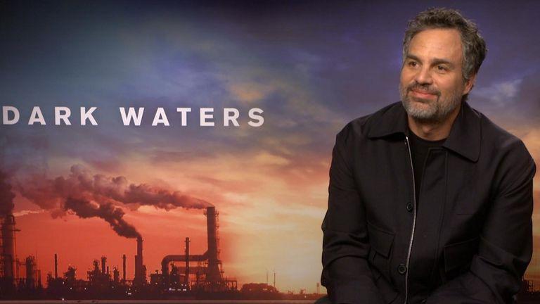 Actor, Mark Ruffalo being interviewed.