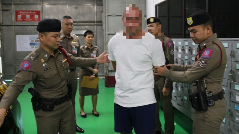 Mark Rumble.  Pic: Thailand department of corrections