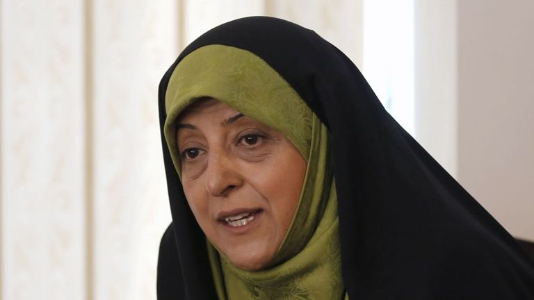Masoumeh Ebtekar is the vice president for women and family affairs