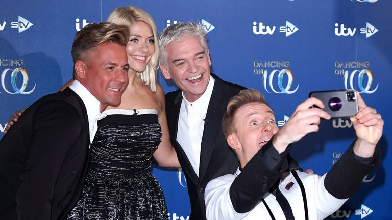 "Matt Evers, Willoughby, Schofield and Ian ""H"" Watkins on Dancing On Ice"