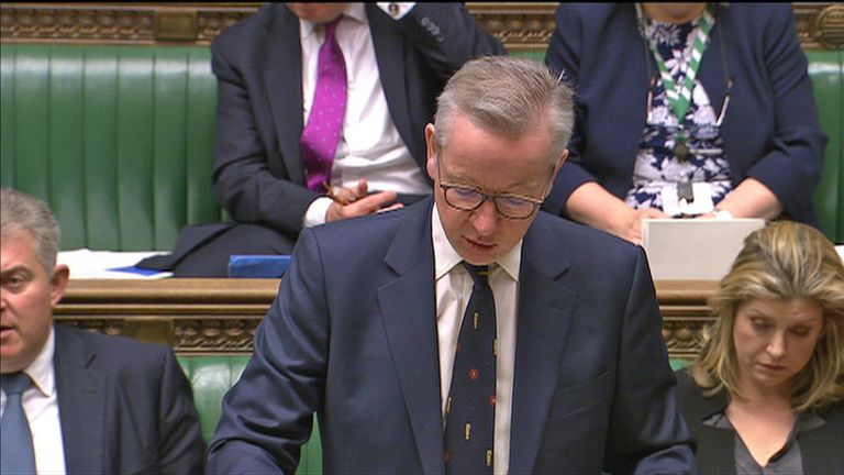 Environment Secretary Michael Gove MP