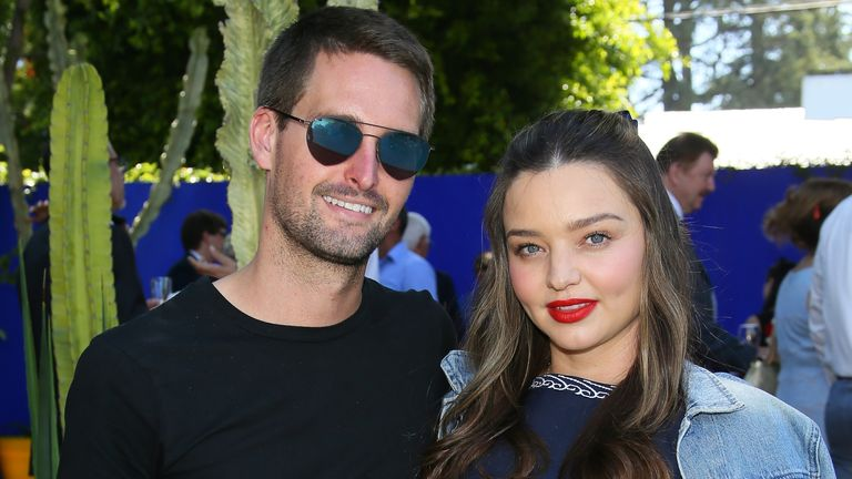 Miranda Kerr shares two sons with second husband Evan Spiegel