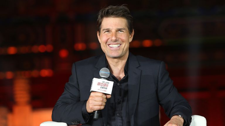 Tom Cruise attends the 'Mission: Impossible - Fallout' Press Conference at The Ancestral Temple on August 29, 2018 in Beijing