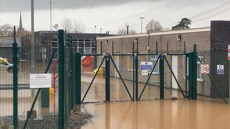 A water treatment plant in Monmouthshire has been flooded
