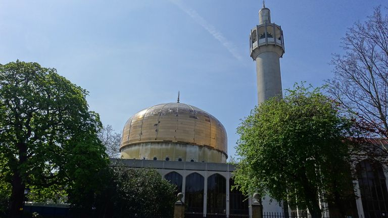 A man has been stabbed at Regents Park Mosque in central London