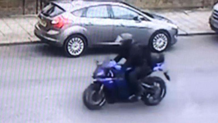 Motorbike is seen on CCTV pursuing Streatham attacker Sudesh Amman