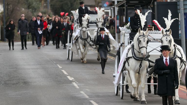 The funeral procession was taken through Sevenoaks High Street