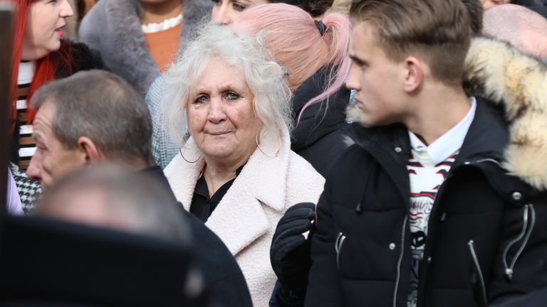The twins' grandmother, Phoebe Smith, was at the service