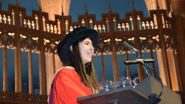 Ms Craig delivered a speech at the ceremony. Pic: Bristol University