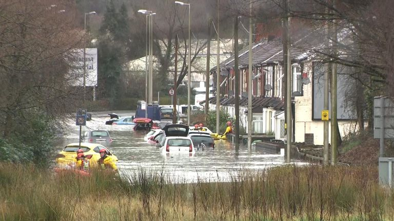 Rescues are underway in South Wales