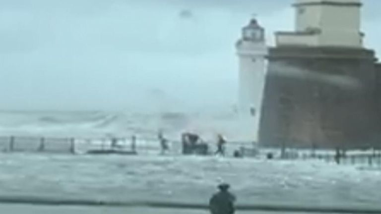 Man is rescued after being stranded at end of promenade in New Brighton