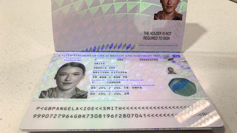 New UK passport