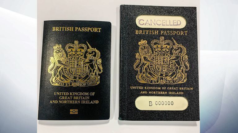 New UK passport against its predecessor