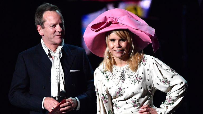 Keifer Sutherland and Paloma Faith at the Brits
