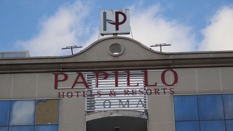 McCallum was arrested at the Papillo hotel in Rome.  Pic: Eaton County Sheriff's Department
