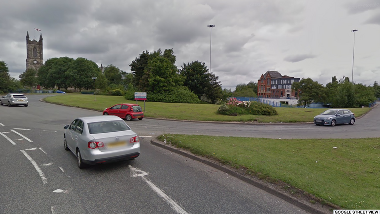 The incident happened near the A6 Pendleton Roundabout in Salford