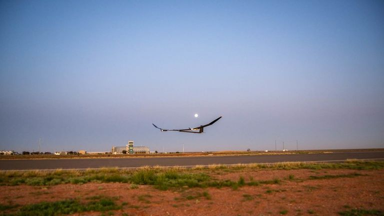 The plane flew at an altitude of just 2km on the test flight