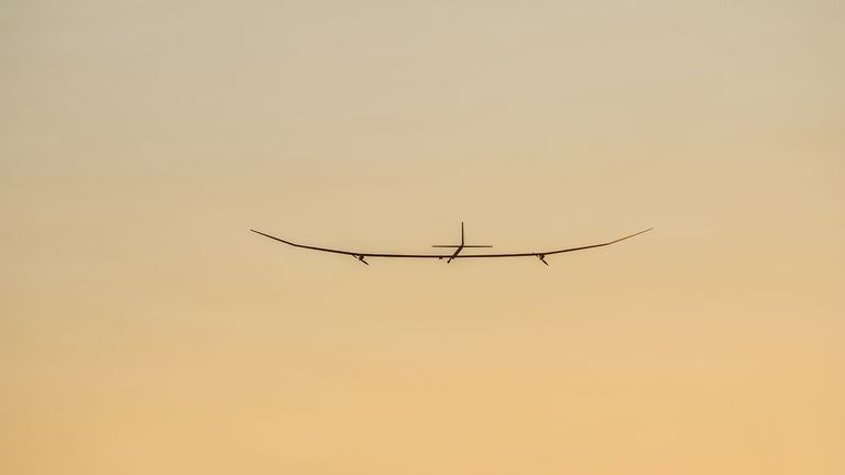 The UK-designed solar powered plane completed its first flight