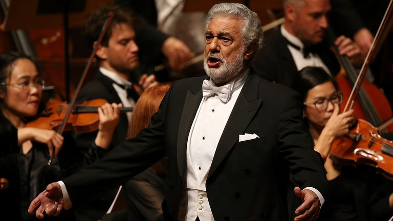 Placido Domingo performing in 2017, has apologised to women he harrassed