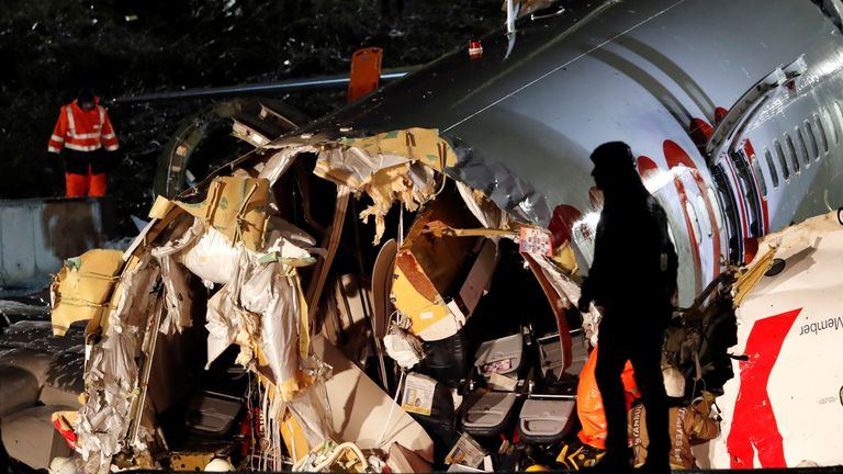 The inside of the fuselage looks to be completely destroyed